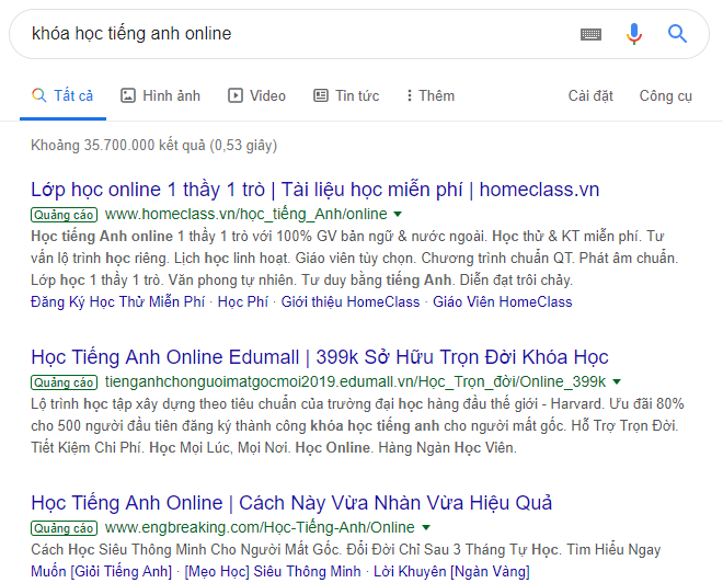 quang cao google search vn